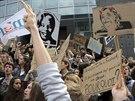 Protest francouzských studentů proti vítězství krajní pravice Marine Le Penové...
