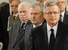 T�i pol�t� prezidenti na poh�bu posledn�ho komunistick�ho v�dce Poska Wojciecha...