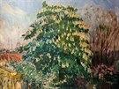 Opočno vystavuje originály Františka Kupky Naše zahrada v Puteaux, Dům malíře...