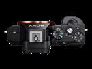 Horní ovládací prvky bezzrcadlovky Sony Alfa 7s
