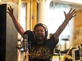 Richard Krajčo ve studiu Sono během natáčení sedmé studiové desky kapely...