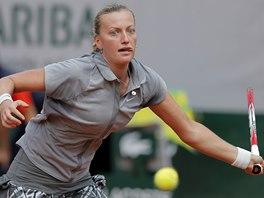 Petra Kvitová bojuje ve 3. kole Roland Garros proti Světlaně Kuzněcovové.