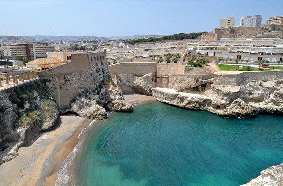Melilla. Pohled zpevnosti do města