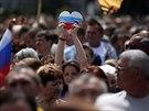 Demonstrace stoupenc� Ruska v Don�cku (31. kv�tna 2014)