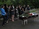 Poh�eb prorusk�ho separatisty, kter� zahynul v boj�ch na v�chod� Ukrajiny (31....