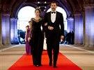 Španělský princ Felipe se svojí manželkou Letizií (29. dubna 2013)