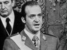 Juan Carlos I. byl �pan�lsk�m kr�lem korunov�n 22. listopadu 1975