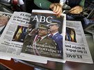Zpráva o králově abdikaci obsadila titulní stránky všech španělských deníků (3....