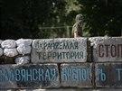 Pevnost Slavjansk. Barikády separatistů ve stotisícovém městě na východě...