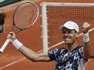 Český tenista Tomáš Berdych postoupil do čtvrtfinále Roland Garros.