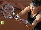 Česká tenistka Lucie Šafářová bojuje o čtvrtfinále Roland Garros.