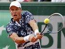 Český tenista Tomáš Berdych bojuje ve čtvrtfinále Roland Garros.