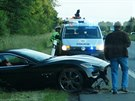 Luxusn� Maserati skon�ilo v p��kopu (4.6.2014)