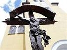 Jihomoravsk� obec roku - Vrbice na B�eclavsku. Kostel sv. Jilj� si Vrbi�t�...