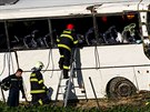 Policie se předběžně domnívá, že příčinou nehody mohl být defekt nebo...