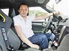 Šéfdesignér Škody Jozef Kabań za volantem konceptu Yeti Xtreme