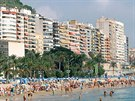 Pláž Postiguet vAlicante (Costa Blanca)