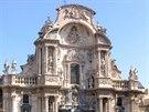 Průčelí katedrály vMurcii (Costa Blanca)