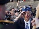 Jeden z veteránů na hlavním dnu oslav 70. výročí vylodění v Normandii (6....