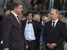 Porošenko se poprvé sešel s ruským prezidentem Vladimirem Putinem v pátek během...