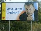 Předvolební billboard Vojtěcha Mynáře v roce 2004.