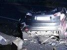 Nehoda n�kladn�ho a osobn�ho auta v p�tek 6. �ervna �asn� r�no zablokovala...