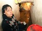 V Písečné na Jesenicku hasiči odčerpávali vodu například ze sklepa Aleny...
