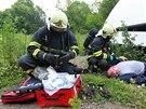 Bezmála 180 hasičů, záchranářů a dalších členů jednotek integrovaného...