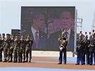 Vzpomínkové akce v Normandii se zúčastnili šéf Kremlu Vladimir Putin a americký