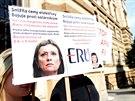 Protest na podporu předsedkyně Energetického regulačního úřadu Aleny Vitáskové...