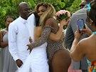 Serena Williamsová sice neměla na svatbu zrovna vhodný oděv, přesto udělala...