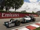 Nico Rosberg v tréninku na Velkou cenu Kanady.