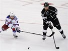 Mats Zuccarello (vlevo) z New York Rangers a Jeff Carter z Los Angeles Kings...