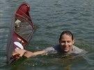 Ani skikrosa� Tom� Kraus se v kanoi neudr�el.