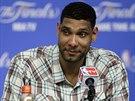 Tim Duncan zůstal po první finálové výhře San Antonia nad Miami relaxovaný.