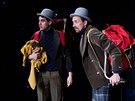 Záběr ze hry Proměna ve Švandově divadle