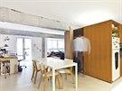 Byt je rozdělen na dvě části, společenskou a odpočinkovou.