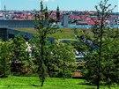 Sacre Coeur. Park najdete za obchodním centrem Nový Smíchov v místě bývalé...