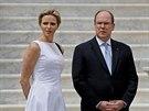 Monacký kníže Albert II. a jeho manželka Charlene (Monako, 6. května 2014)
