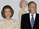 �pan�lsk� kr�lovna Sofia a kr�l Juan Carlos (Madrid, 2. listopadu 2008)