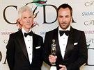 Richard Buckley a Tom Ford na udílení CFDA Fashion Awards (New York, 2. června...