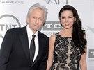 Michael Douglas a Catherine Zeta-Jonesová (Los Angeles, 5. června 2014)