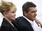 Melanie Griffithová a Antonio Banderas (New York, 18. listopadu 2013)