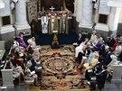Křest švédské princezny Leonore v královské kapli zámku Drottningholm...