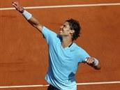 PODEVÁTÉ. Španělský tenista Rafael Nadal se raduje z další finálové účasti na...