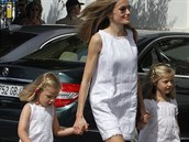 �pan�lsk� princezna Letizia s dcerami Sofi� a Leonor
