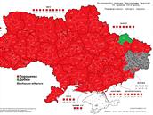 Výsledky prezidentských voleb na Ukrajině. Regiony, v nichž vyhrál Petro...