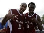 Katarští basketbalisté se na MS 3x3 radují z postupu do semifinále, porazili...