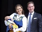 �védská princezna Madeleine, její man�el Chris O'Neill a jejich dcera,...