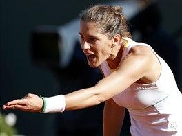 CO TO JE? Německá tenistka Andrea Petkovicová se rozčiluje v semifinále Roland...